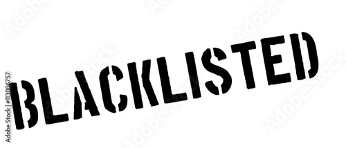 Fotografie, Obraz  Blacklisted black rubber stamp on white