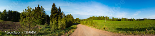 Fototapety, obrazy: dirty road panorama