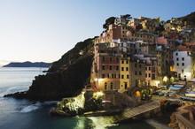 Clifftop Village Of Riomaggiore, Cinque Terre, Liguria