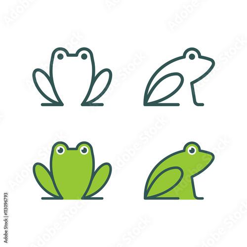Fotografie, Obraz  Frog icon logo