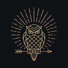 Owl With Arrow Emblem