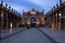 Evening View Of The Arc De Triomphe, Place Stanislas, Nancy, Lorraine, France
