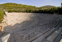 The Ancient Amphitheatre Of Epidaurus, Peloponnese, Greece