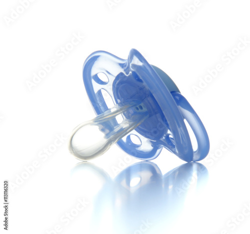 Vászonkép One blue plastic nipple pacifier soother isolated