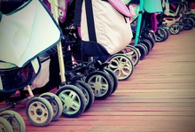 Strollers For Toddlers Parked ...