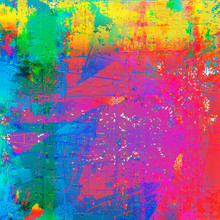 Grunge Style Abstract Color Splash Background