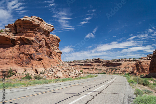 Fotografie, Obraz  Driving along Grand Mesa near Colorado National Monument at Grand Junction, Colo
