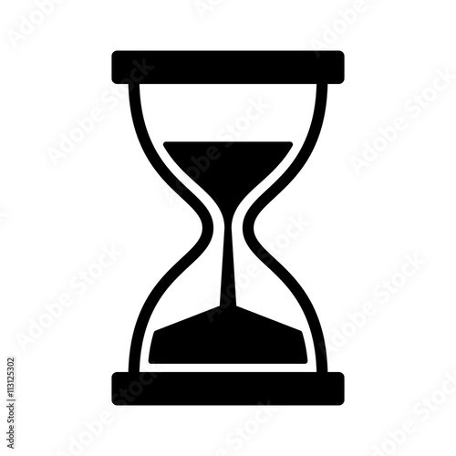 Fotografia Vintage hourglass / sandglass timer or clock flat icon for apps and websites
