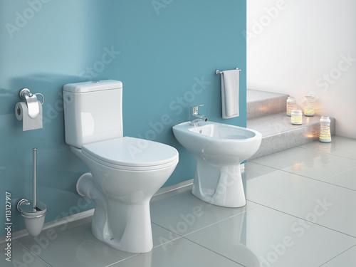 Pinturas sobre lienzo  Modern wc, bathroom, toilet