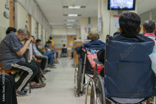 Fotografie, Obraz  Patient waiting a doctor in hospital