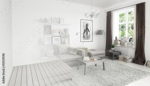 Bucher Im Wohnzimmer Einrichtung Und Dekoration Vision Buy This