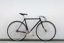 City Bicycle Fixed Gear And Concrete Wall