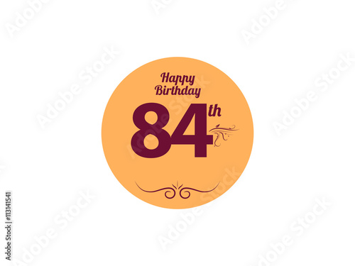 Fotografia  Happy Birthday vintage logo