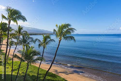 Fototapeta Sugar Beach Kihei Maui Hawaii USA