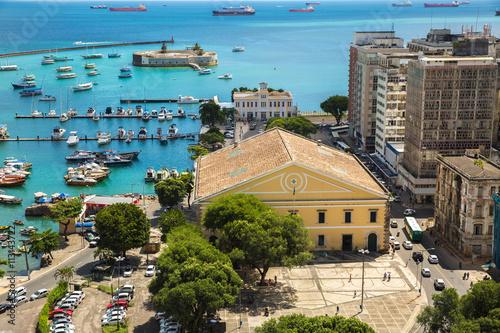 Fotografía  Aerial view of Salvador City in Bahia, Brazil