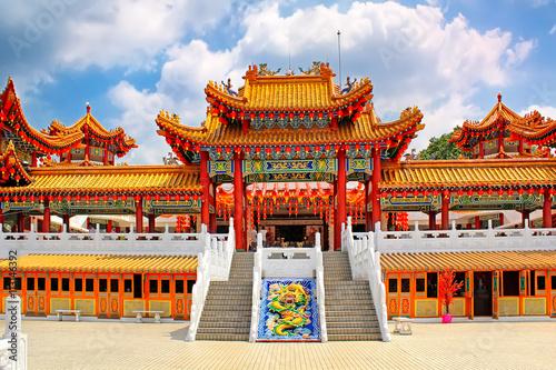 Photo Stands Kuala Lumpur Thean Hou Temple in Kuala Lumpur Malaysia