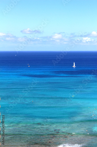 Waikiki beach in Hawaii