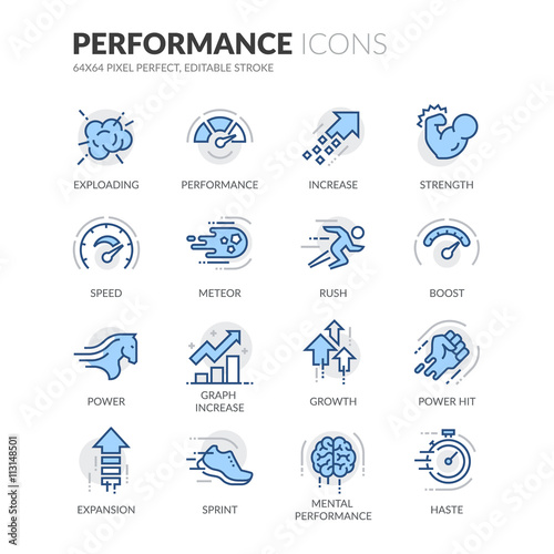 Fotografía  Line Performance Icons