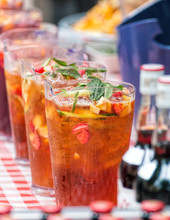 Pimm's Pitchers, Outdoor Summer Bar.