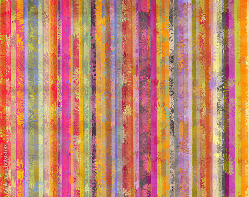 Montage in der Fensternische Surrealismus Vertical colorful lines background