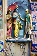 Statues At The Sri Krishnan Bagawan Temple In Singapore
