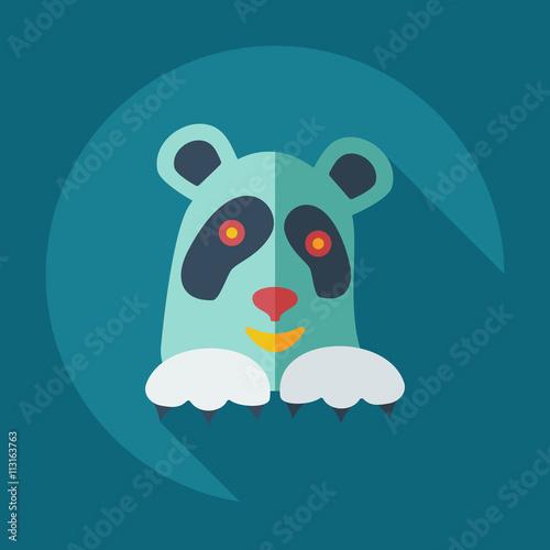 Fotobehang Boerderij Flat modern design with shadow icons pandas