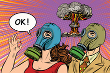 Nuclear War Retro Pop Art Post...