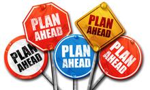 Plan Ahead, 3D Rendering, Street Signs