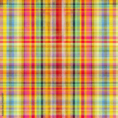 Foto auf AluDibond Surrealismus Vector Scottish cloth