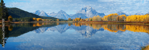 Wall Murals Blue jeans Autumn landscape in Yellowstone, Wyoming, USA