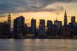 New York City Manhattan buildings skyline at night