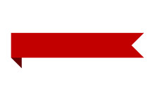 Red Banner Ribbon Strip With B...
