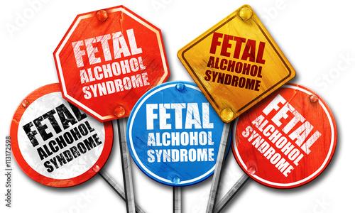fetal alchohol syndrome, 3D rendering, street signs Canvas Print