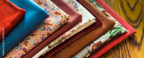 Acrylic Prints Fabric stash of fabrics for fall sewing projects