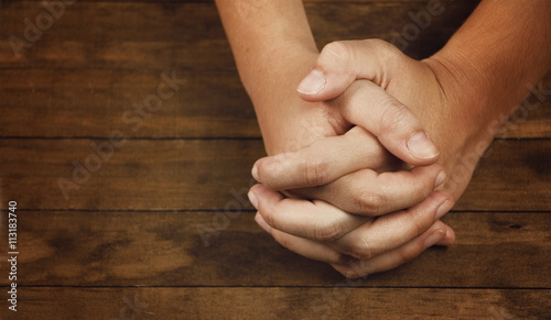 Fotografie, Obraz  Praying Hands