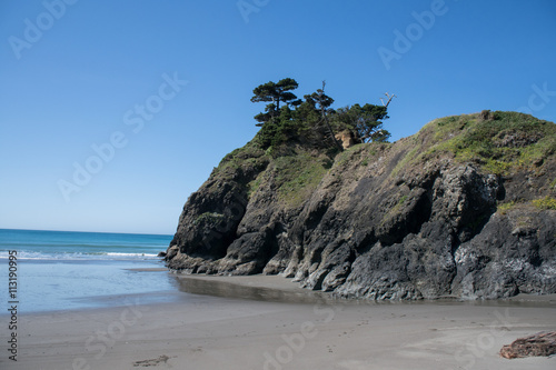 Foto op Canvas Cathedral Cove Oregon coastline rocks and ocean