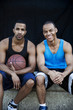 Portrait of basketball players