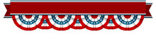 Bunting American Flags With Re...