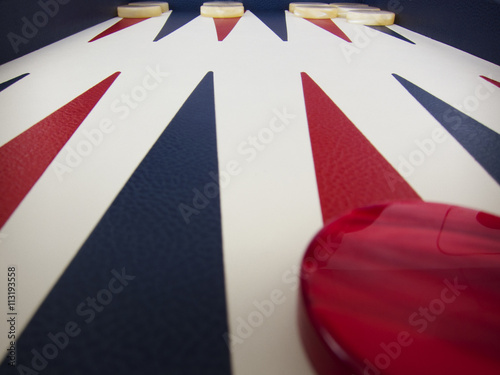 Close up of backgammon board Poster