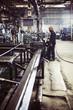 Worker in industrial workshop