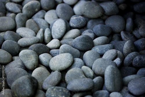 Smooth gray stones