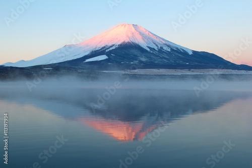 Fotografie, Obraz  山中湖と富士山