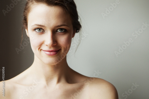 Portrait of young woman Poster