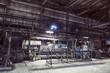 Illuminated industrial workshop