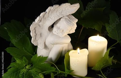 Engel mit Kerzen Poster