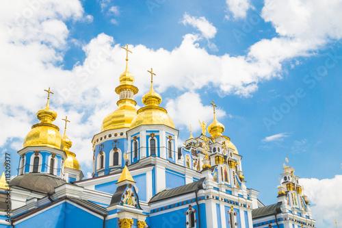 Foto op Plexiglas Kiev Архитектурный памятник времён Киевской Руси. Михайловский собор, город Киев, Украина