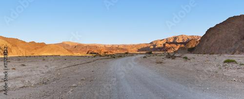 Staande foto Droogte road in the desert
