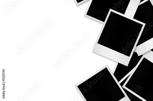 Blank polaroid photo papers isolated. Canvas-taulu