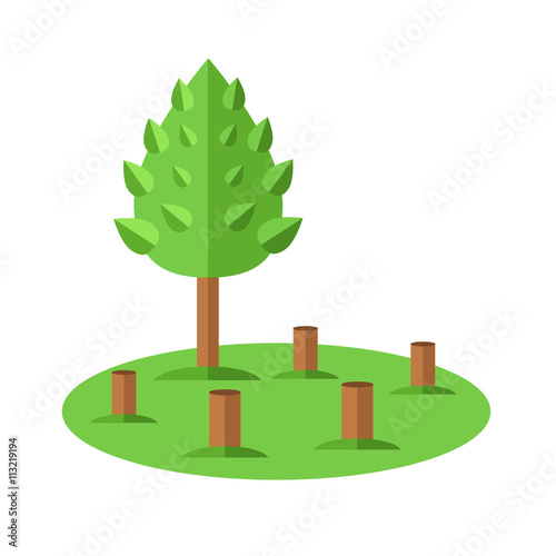 deforestation icon ecological natural problem vector flat cartoon rh stock adobe com Deforestation Cartoons Deforestation Cartoons