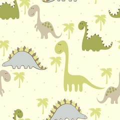 fototapeta wzór kreskówka z dinozaur